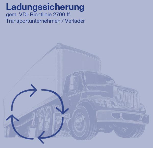 Ladungssicherung gem. VDI-Richtlinie 270 ff. Transportunternehmen / Verlader