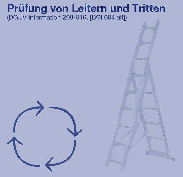 Prüfung Leitern und Tritte (DGUV Information 208-016, [BGI 694 alt])